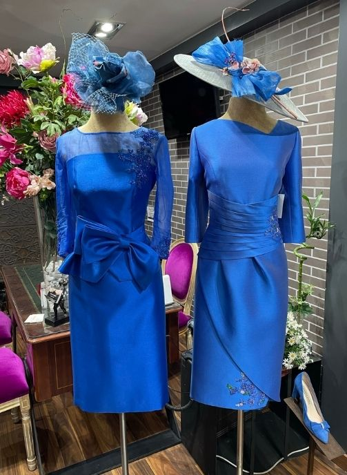 vestidos fiesta madrina azul electrico pilukafashion