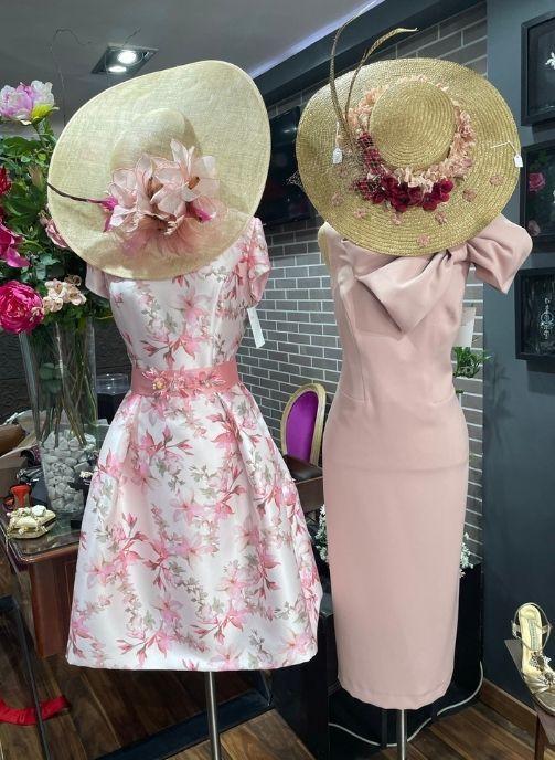 vestidos mama comunion en color rosa nude en pilukafashion