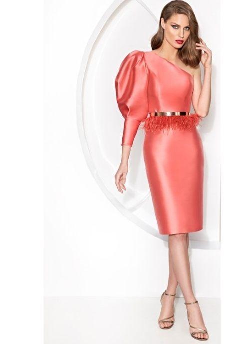 vestidos de fiesta coral corto pret a porter para invitada o mama comunion
