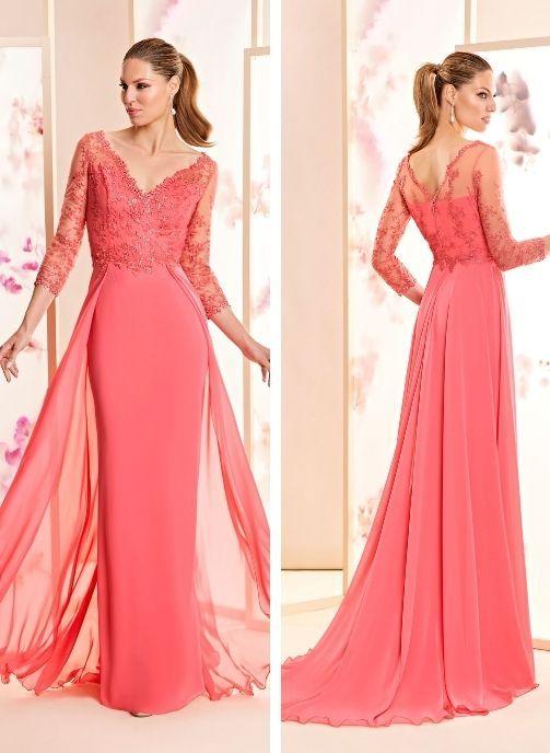 vestidos de fiesta coral largo coleccion pret a porter madrina