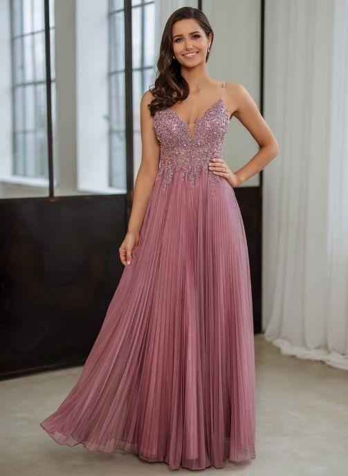 vestidos de fiesta largo rosa coleccion pret a porter
