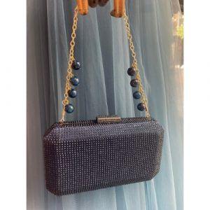bolsos fiesta azul marino con piedras cristal pilukafashion