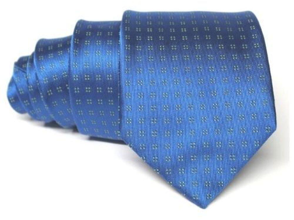 corbata azul electrico